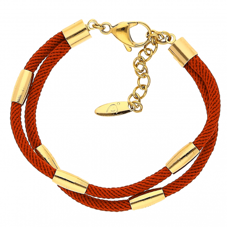 BRANSOLETKA POZŁACANA 17+3,5CM RED-GOLD XUPING 20588