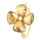 PIERŚCIONEK POZŁACANY 17MM GOLDEN SHADOW CRYSTAL XUPING 31335